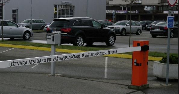 Šlagbaumas stovėjimo/parkavimo aikštelėje. Diegimas, įranga, aptarnavimas